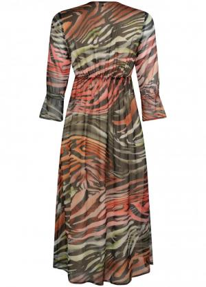 120010 8 [Dress (long)] 009998 Print Bl