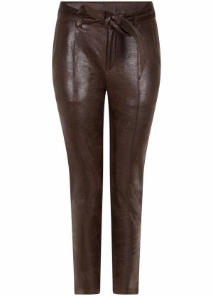 Trousers Shiny Coated Suedine logo